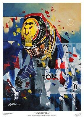 LEWIS HAMILTON 2017 limited edition print by Greg Tillett FORMULA ONE F1 POSTER