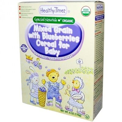 Organic Mixed Grain with Blueberries Cereal for Baby, 180ml (170 g). Free Shippi