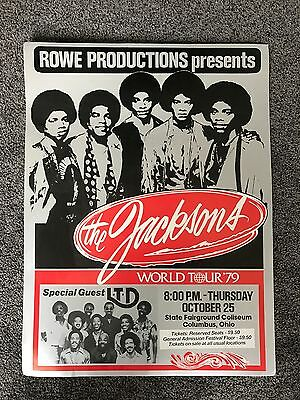 The Jacksons 1979 world tour poster