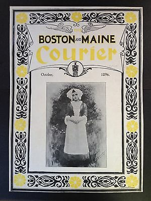 Antique Original 1896 Print Ad (B18)~The Boston And Maine Courier 1896 Cover Pg.