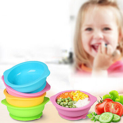 Lovely Baby Toddler Cutlery Silicone Anti Slip Drop Resistant Sucker Bowl Dining