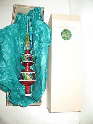 Inge Tree Topper Glass Precious Christmas Heirlooms Handcrafted Made in Germany