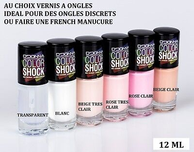 Vernis A Ongle Nail French Manucure Blanc Rose Beige Transparent Neuf Ver014