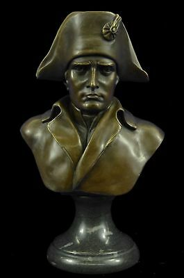 Bronze Sculpture Solid French Old Rare Signed Napoleon Bonaparte Bust DW
