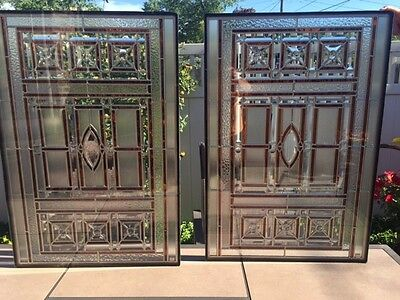 "Stunning & beautiful all-beveled, encased, stained glass windows, 23.5"" X 34.5"""