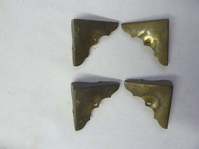 Vintage Brass Corner Protectors for Wood Box with Closed Corner Lot of 4