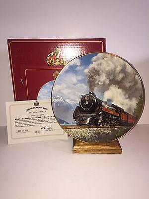 Royal Hudson '2860' First Lady of Steam Collector Plate 1984 -Ted Xaras