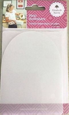 2x Flexi Cake Smoother For Sharp Edges Perfect Finish Icing Elizabeth Harris New