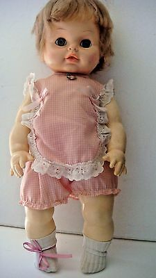 "Soft Rubber Vintage Doll by Horsman 19"" Open Shut Eyes Drink Wet Doll"