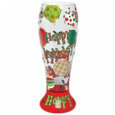 Lolita Gotta Love Beer Pilsner Glass, Happy Holidays. Shipping Included