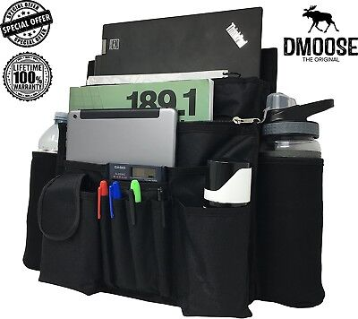 """Car Front Passenger Seat Organiser with Laptop & Tablet Storage by DMoose (17"""""""