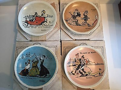 Rockwell on Tour Plate Collection - Excellent condition COA-Cartoon 1982 Newell