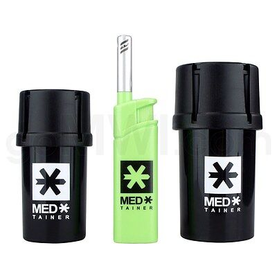 MedTainer Storage Container Built-In Grinder Gift Box 40 Dram 20 Dram Authentic