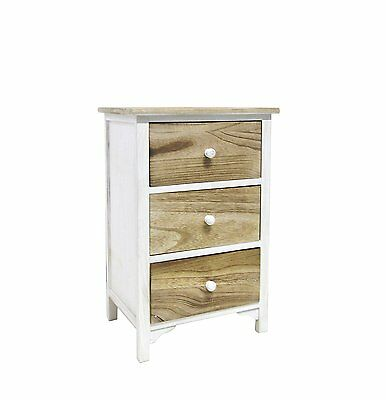Bedside table Nightstand Cabinet Chest of drawers Country-style Rustic Vintage 3