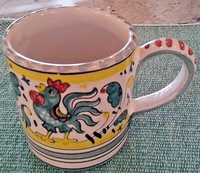 Rooster Dipinto A Mano Made in Italy Mug Cup