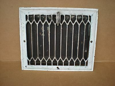 """painted furnace wall heat register metal vent  grate grille 14"""" x12"""""""