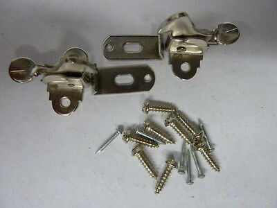 NOS Steel Furniture Elbow Catch Latch for Door Pair with Screws Lot of 12 Packs