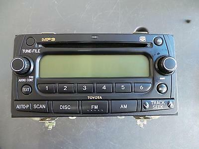 Toyota Corolla Radio/cd  Factory Cd Player, Zze122, W/ Mp3 Player Type