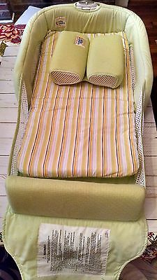 The First Years Close and Secure Portable Infant Sleeper EUC, green