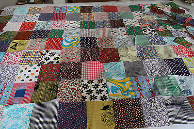 103 Vintage Quilt Blocks for puff quilt biscuit 70s patterns calico scrappy