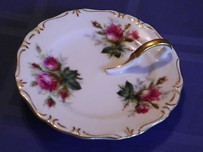 """Vintage Rossetti ANTIQUE ROSE Lemon Plate Hand Painted Made in Japan 5 1/2"""""""