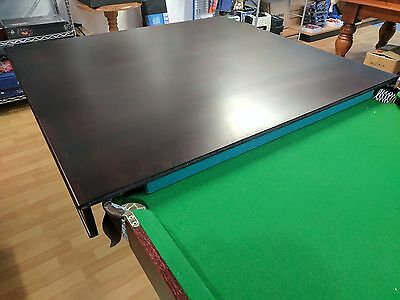 7 Foot Billiard Table - Hard Top Cover - Dining Table - 2 Piece