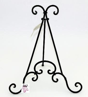 Metal Book, Photo Frame or Plate Display Stand Black