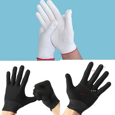 10 Pairs Antistatic Work Glove ESD PC Electronic Nylon Knit Working Safety Grip