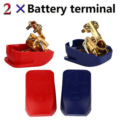 2x Battery Quick Terminals Battery Terminals Battery Terminal Car Boot Red Blue
