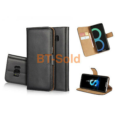 Luxury Genuine Real Leather Flip Wallet Cover Stand For HTC Mobile Phone Case