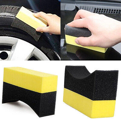 2/5/10Pcs Car Professional Tyre Tire Dressing Applicator Curved Foam Sponge Pads
