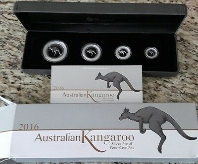 1st Ever 2016 Proof Australian Silver Kangaroo 4-Coin Set 3000 sets minted.
