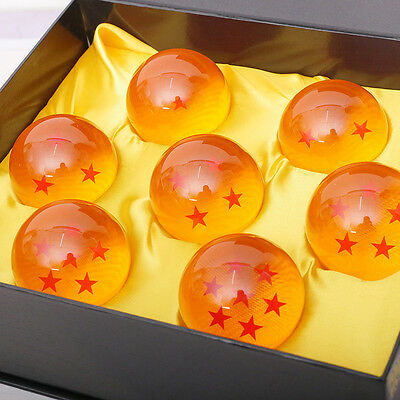 7pcs Set 4.2cm Anime Dragon Ball Z Stars Crystal Balls Gift Collection With Box