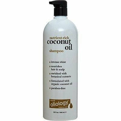 Natural Oliology Nutrient-Rich Coconut Oil Shampoo 32 oz