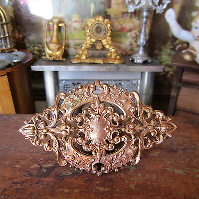 Antique Victorian FRANCE METAL CEILING CHANDELIER PIECE Miniature Picture French