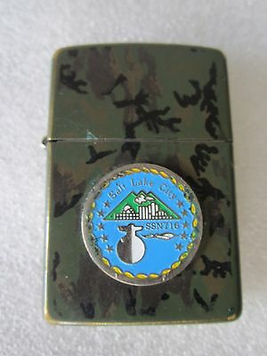 Rare Vintage Uss Salt Lake City Ssn 716 Submarine Zippo Lighter