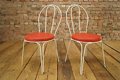50er Garden Seat Vintage Rockabilly Metal Kitchen Chair Country House Style