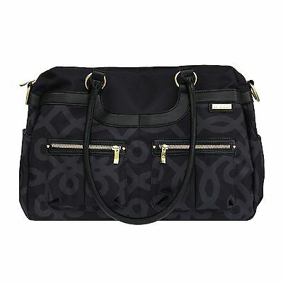JJ Cole Satche Diaper Bag, Black and Gold - FREE SHIPPING
