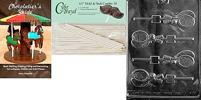 Cybrtrayd 'Tennis Racquet Lolly' Sports Chocolate Candy Mould with 50 11cm