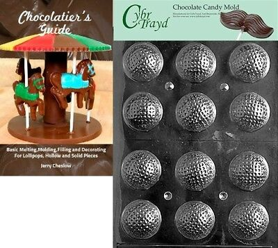 (+Chocolatier Bk) - Cybrtrayd Golf Balls 3D Sports Chocolate Candy Mould with