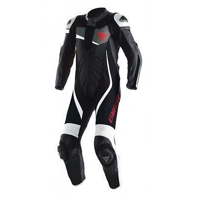 Dainese Veloster 1 Piece Leather Racing Suit Black/white