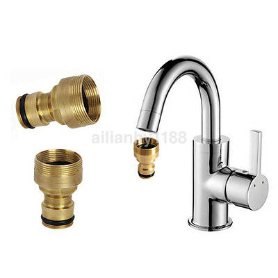 Universal Kitchen Tap Adaptor Hose Water Pipe Connector Copper Tube Fitting  UK