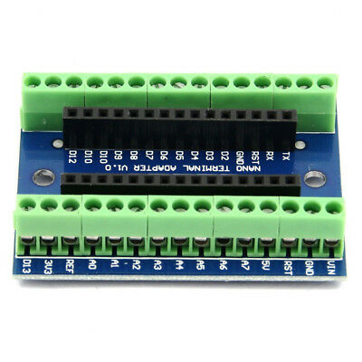 Nano Terminal Expansion Board Terminal Adapter IO Shield For Arduino NANO Kit AU