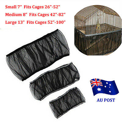 New Nylon Mesh Pet Bird Cage Seed Catcher Guard Cover Shell Skirt Decoration BO