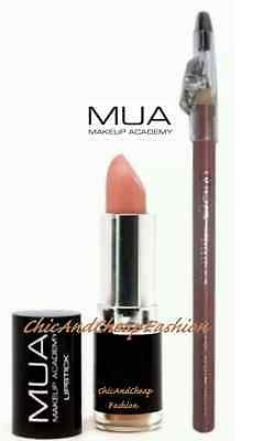 MUA Professional Makeup Academy Bare 14 - Nude Lipstick and Lip Liner Kit/Set