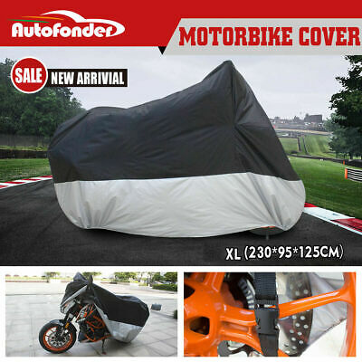 L Large Motorcycle Cover Waterproof Motorbike Cover AU Stock Free Shipping!
