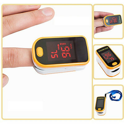 1*Finger PULS OXIMETER Heart Rate Monitor Oximeter Blood Oxygen Meter SPO2 NEW