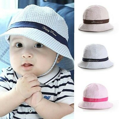 AU Fashion Children Kids Toddler Infant Sun Cap Baby Girl Boys Beach Bucket Hat