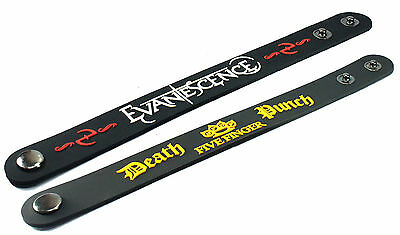 2X EVANESCENCE & FIVE FINGER DEATH PUNCH Rubber Wristband Bracelet Free Shipping