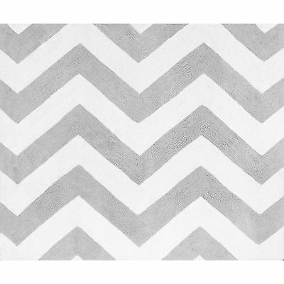 Baby Nursery Rugs Chevron Floor Mat Hand Tufted Cotton Carpet Room Accent Decor
